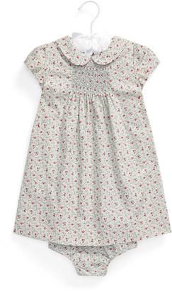 Ralph Lauren Smocked Floral Dress and Bloomer