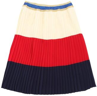 Gucci Plisse Silk Georgette Skirt