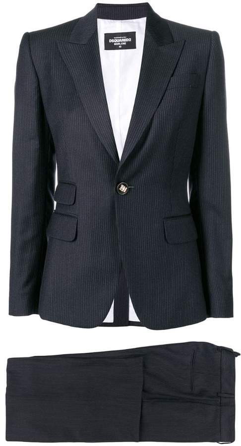 DSQUARED2 striped two-piece suit