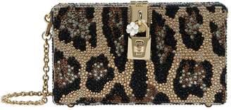 Dolce & Gabbana Embellished Leopard Box Clutch