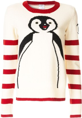 Chanel Pre-Owned long sleeve penguin knit sweater
