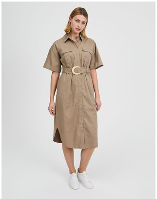 Piper Belted Utility Shirt Dress