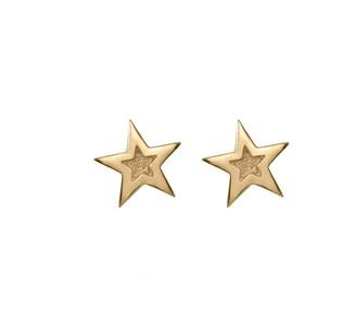 Edge Only Megastar Stud Earrings Gold