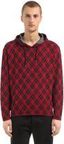Antonio Marras Hooded Viscose Jersey Tartan Sweatshirt