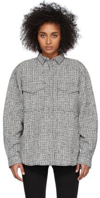 Totême Black and White Novella Shirt