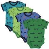 Pippi Baby Boys Body Short Sleeve AO Printed 4 Pack T-Shirt