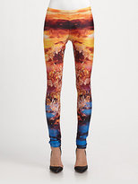 McQ by Alexander McQueen Mineral-Print Jersey Leggings