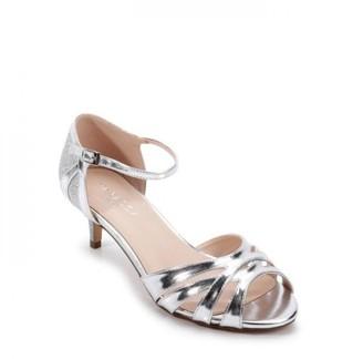Paradox London Glitter 'Heath' Wide Fit Two Part Low Heel Sandal