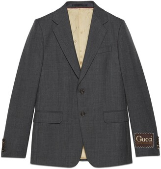 Gucci Wool jacket with label