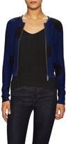 Tracy Reese Cotton Intarsia Big Zip Cardigan