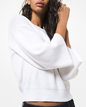MICHAEL Michael Kors Ribbed Bell Sleeve Sweater