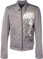 Haider Ackermann embroidered zip jacket - men - Rayon/Cotton/Polyester - S