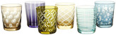 Pols Potten Mixed Cuttings Glass Tumblers - Set of 6