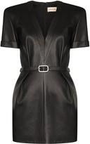 Alexandre Vauthier embellished-buckle mini dress