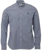 Timberland Mens Eastham Long Sleeve Check Shirt Dark Sapphire