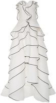 Oscar de la Renta Strapless Tiered Gown