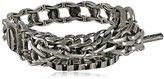 "Kenneth Cole New York Midnight Sky"" Multi-Chain Half Stretch Bracelet"