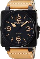 Bell & Ross Men's BR01-92-HERITAGE Avation Dial and Strap Dial Watch