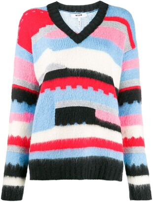 MSGM geometric knitted jumper