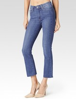 Paige Colette Crop Flare - Cosmo with Raw Hem