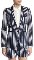 Rag & Bone Windsor Striped Woven Blazer, Navy/White