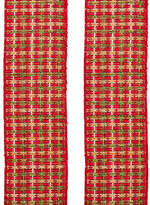 Kurt Adler Woven Ribbon Set Of 2