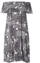 Evans Multi Coloured Floral Gypsy Dress