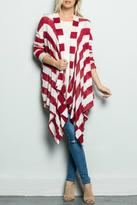 Inance Red Striped Cardigan