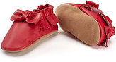 Robeez Baby Girls Newborn-24 Months Fringe and Bow Moccasin Shoes