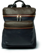 Paul Smith Panelled Leather Backpack