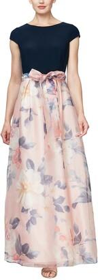 Slny Floral Organza Maxi Dress