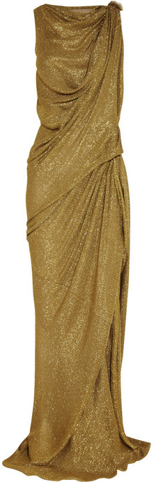 Lanvin Draped lamé gown