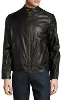Cole Haan Zip-Front Faux-Leather Moto Jacket
