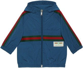 Gucci Baby nylon jacket with Web