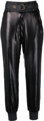 Mr & Mrs Italy Sequin Cropped Trousers