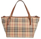 Burberry Infant Horseferry Check Diaper Tote - Beige