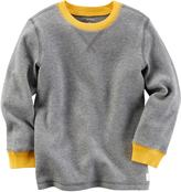 Carter's Baby Boy Contrast Color Thermal Long Sleeve Tee