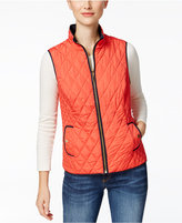 Charter Club Petite Reversible Quilted Vest, Only at Macy's