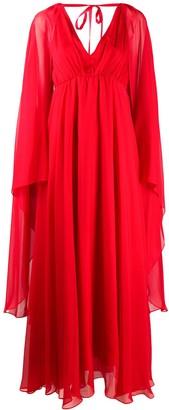 Pinko Cape V-Neck Dress