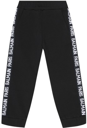 Balmain Kids Cotton trackpants