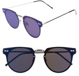 Spitfire Women's Cyber 48Mm Mirrored Lens Sunglasses - Silver/ Blue Mirror