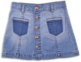7 For All Mankind Girls' Denim Skirt - Big Kid