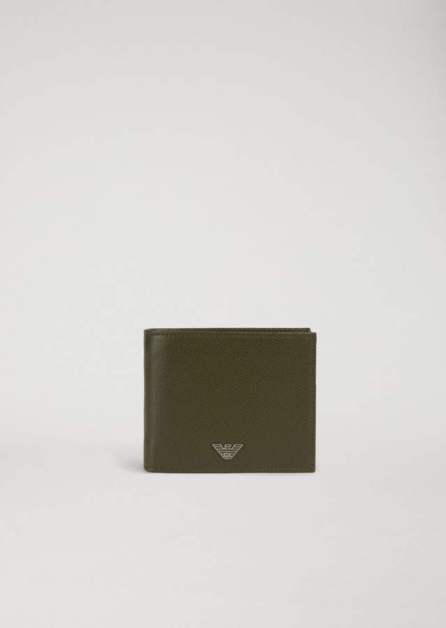 Emporio Armani Printed And Boarded Leather Wallet