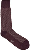 Reiss Schranger Textured Herringbone Socks