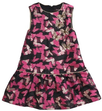 Imoga Embellished Printed Organza Dress