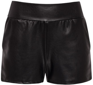 Commando Faux Leather Relaxed Shorts