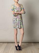 Saloni Cosmia coral reef-print dress