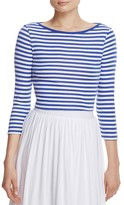 Three Dots Stripe Crop Top
