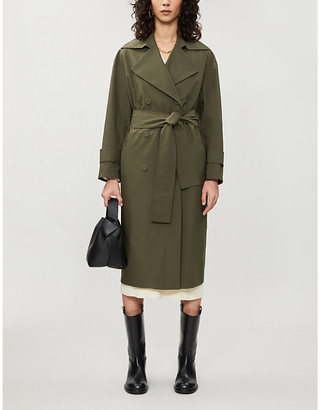 Harris Wharf London Double-breasted woven trench coat