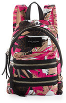 Marc Jacobs Palm-Print Nylon Biker Mini Backpack, Pink Multi